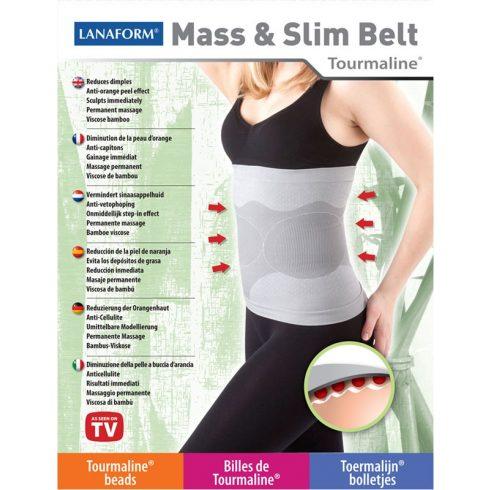 Lanaform Mass & Slim Belt, karcsúsító Tourmaline® öv