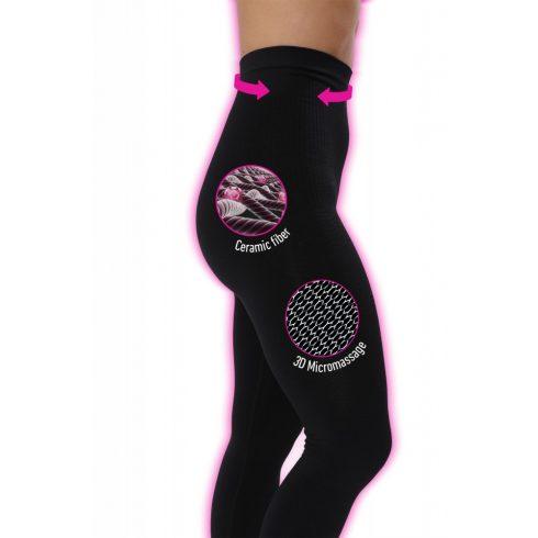 Lanaform Active Slim alakformáló sport legging (L méret), biokerámia szálak és 3D mikromasszázs