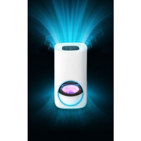 Lanaform Air Purifier légtisztító, 3 rétegű szűrő, UV lámpa, éjszakai mód, LA120209