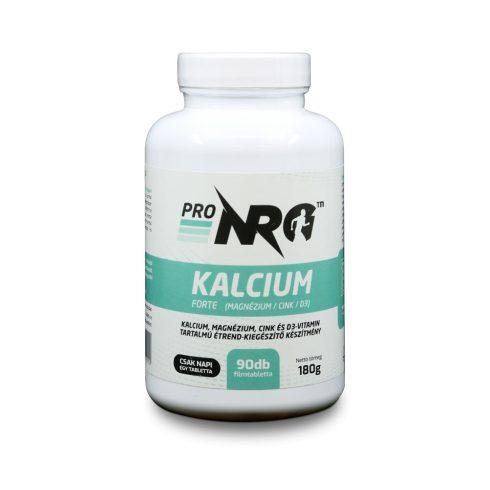 ProNRG Kalcium forte, Kalcium, Magnézium, Cink és D3-vitamin tartalmú étrend-kiegészítő készítmény, 90 db filmtabletta